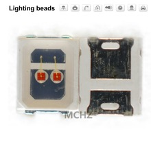 200pcs/lot SMD LED 2835 lamp beads highlight 0.8w 300 ma 2V-2.6V yellow Amber 588nm 590nm light-emitting diode 200pcs 0805 2012 green light light emitting diode smd led