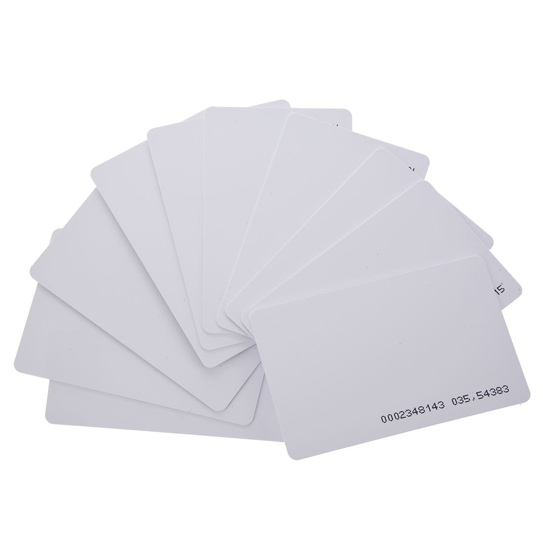 125khz em4100 door entry access blank white proximity rfid clamshell thick card thickness 1 9mm pack of 10 MOOL 125Khz Door Entry Access Proximity RFID Card Wht 10 Pcs