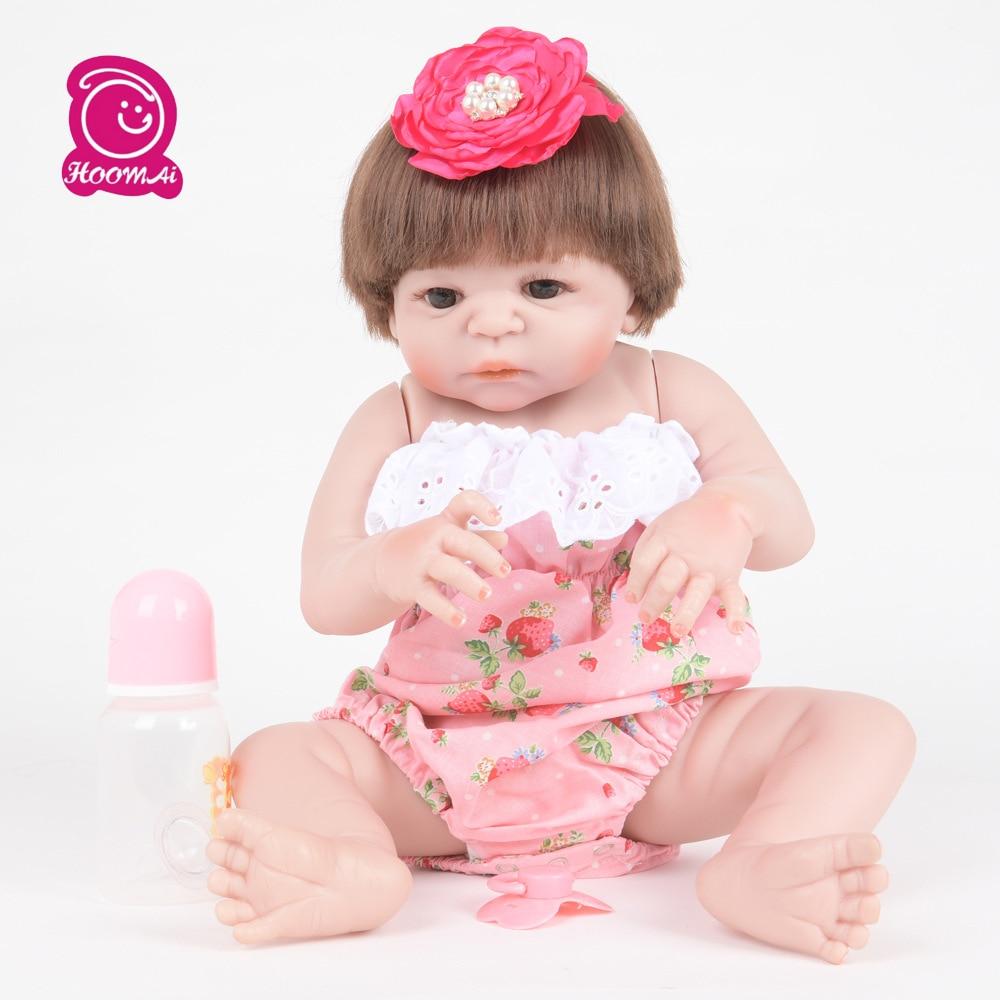 55CM Soft Silicone Reborn Dolls Baby Realistic Doll Reborn Full Vinyl Boneca BeBe Reborn Doll for Girls55CM Soft Silicone Reborn Dolls Baby Realistic Doll Reborn Full Vinyl Boneca BeBe Reborn Doll for Girls