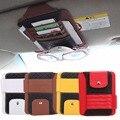 Car Interior Sun Visor Multifunción Coche de LA PU Paquete de la Tarjeta Titular Gafas Clip Case Storager