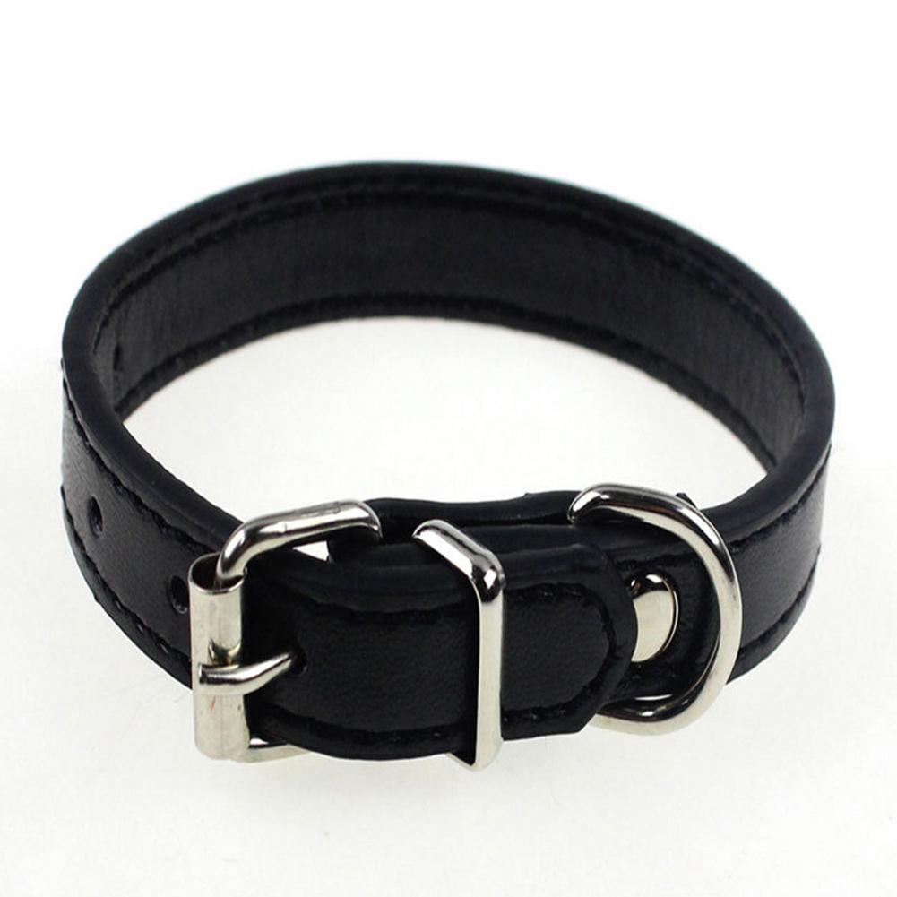 matching leash available wide fit collar Black leather dog collar with gold ring unique and unusual kinky choker with Buckle closure