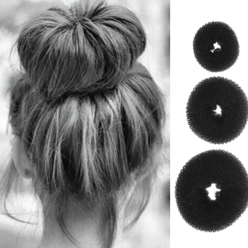 New 3PCS Fashion Elegant Women Ladies Girls Magic Shaper Donut Hair Ring Bun Fashion Hair Styling Tool Accessories