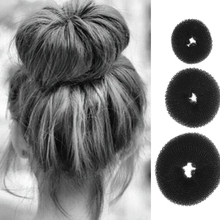 Новинка 3 шт. модные элегантные женские Девушки Корректировщик фигуры пончик волос кольцо булочка модные аксессуары для укладки волос