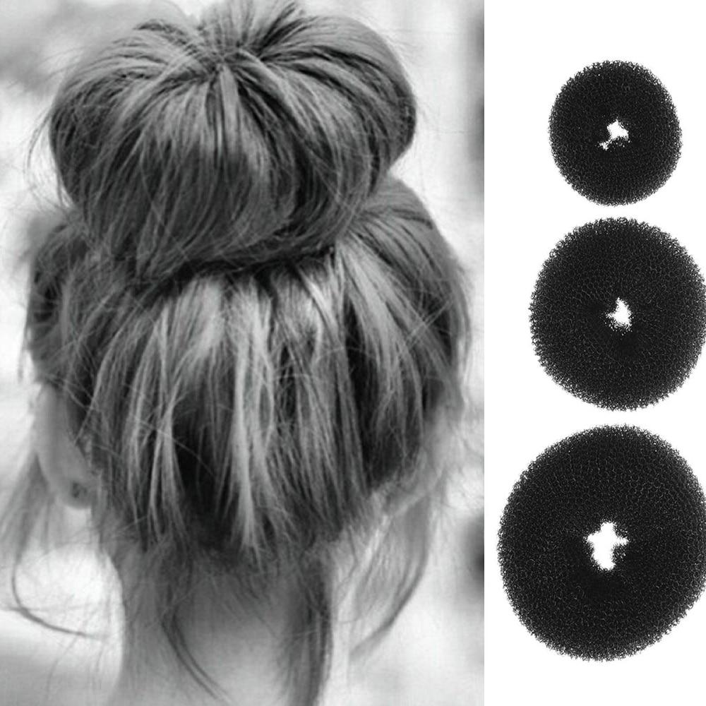 New 3PCS Fashion Elegant Women Ladies Girls Magic Shaper Donut Hair Ring Bun Fashion Hair Styling Tool Accessories