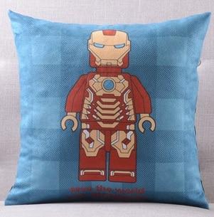 Америка супер герой Супермен Человек паук Железный человек чудо-подушка с изображением Женщины чехлы на диван сиденье бархатное покрытие для подушки наволочка - Цвет: A