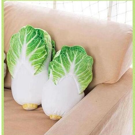 Adorável criativo simulação 1 pc 33 cm Chinês repolho boneca travesseiros na almofada do sofá para inclinar brinquedos de pelúcia presentes