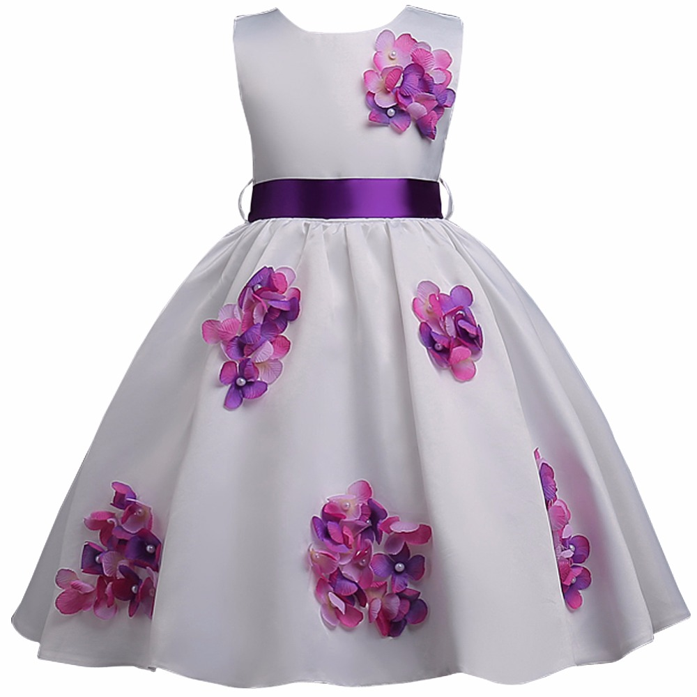 Children Girls Princess Dress 2018 Summer Kids Girls Flower Sequins Dress Baby Party And Wedding Dresses For Children Clothing summer 2017 new girl dress baby princess dresses flower girls dresses for party and wedding kids children clothing 4 6 8 10 year