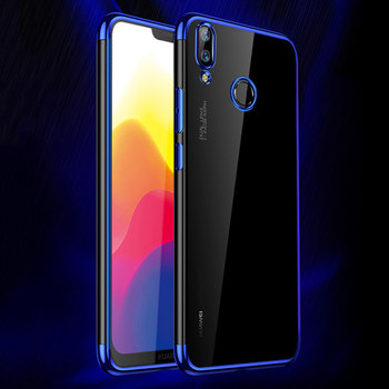 Huawei nova 3 3i case luxury laser plating soft clear back cover full protection