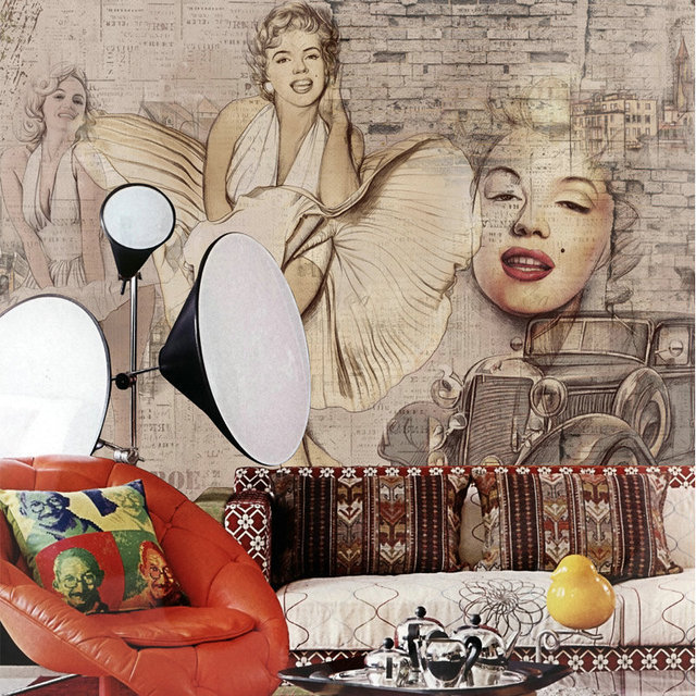 Mop Water Marilyn Monroe Wallpaper Wall Murals Paper Wall Painting Mural  Living Room Papel Parede Quarto Part 86