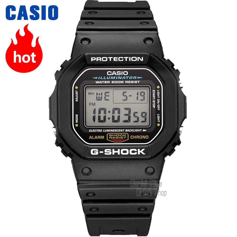 Casio watch G-SHOCK Men's quartz sports watch cool shockproof square waterproof g shock Watch DW-5600 casio g shock dw 5600wb 7e