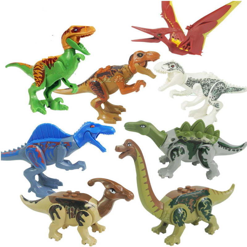 8pcs/sets Jurassic Dinosaur World Jurassic World 2 Figures Tyrannosaurs Rex Building Blocks Compatible With Lego Dinosaur Toys