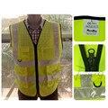 Colths amarelo fluorescente & fluorescent orange reflexiva colete de segurança frete grátis