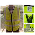 Fluorescent yellow & Fluorescent orange reflective vest  for safety colths free shipping