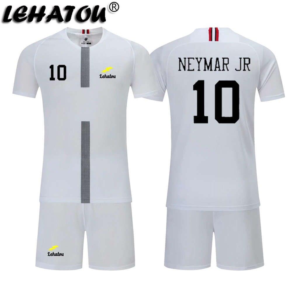 wholesale dealer df7d1 3362d US $6.56 5% OFF|Boy Soccer Jersey Paris Football Sets Child Soccer Shirt  Top Quality Neymar Jr Cavani Suits Mbappe Training Jersey Man Psg Kits-in  ...