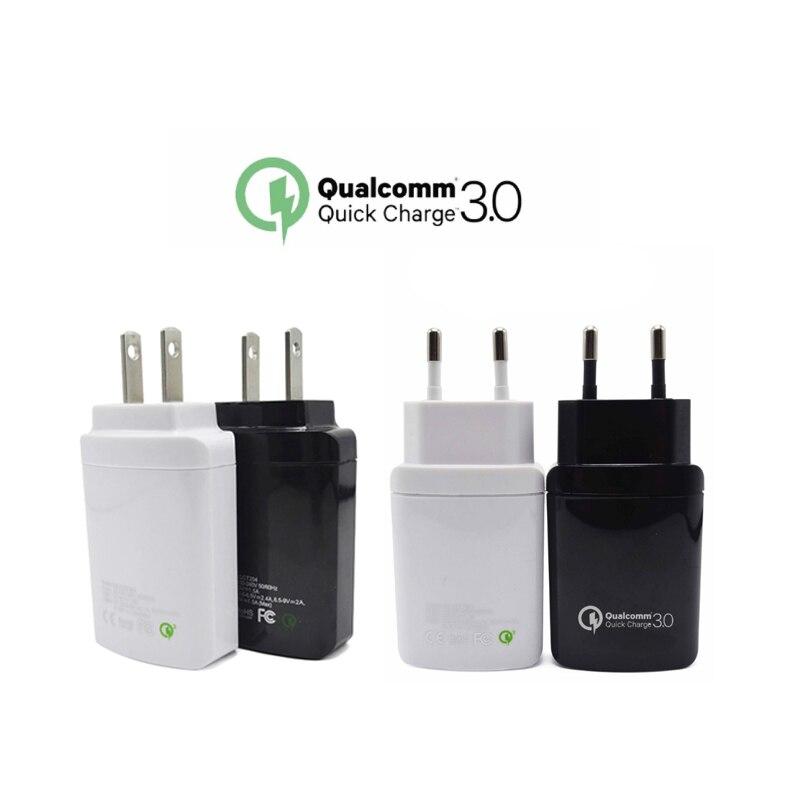 QC 3.0 Phone <font><b>Charger</b></font> Dual USB EU US Plug Fast Wall Travel Adapter for Asus ZTE Nubia <font><b>LeEco</b></font> LG HTC Mi Samsung Sony Moto