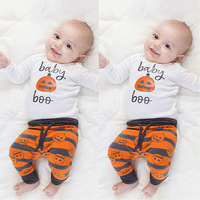 Europe And The United States Children Halloween Pumpkin Children S Suits And Young Children Baby Girl