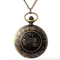 Cindiry vintage brand new proud to be a farmer quartz pocket watch men women pendant gift.jpg 200x200