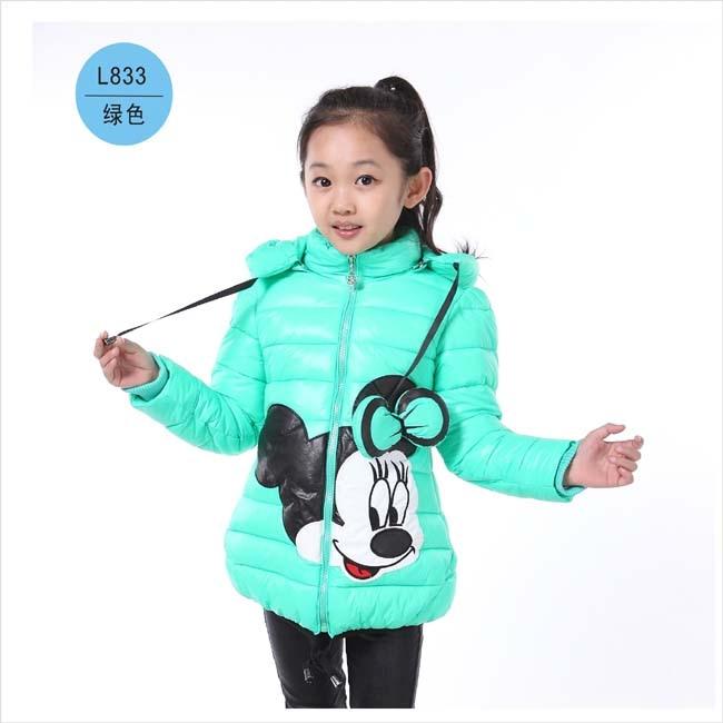 Forró! Lányok téli kabátok és ruházat gyerekek Minnie Cartoon - Gyermekruházat - Fénykép 6