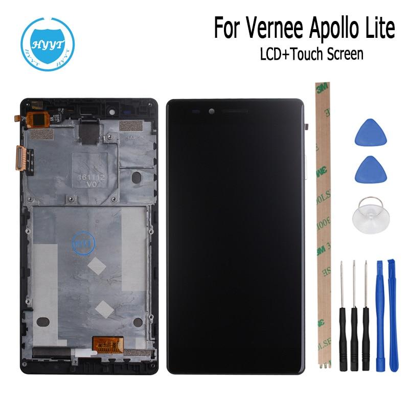 imágenes para 5.5 pulgadas Para Vernee Apollo Pantalla LCD + Pantalla Táctil Con El Marco Original del 100% Pantalla Digitalizador Asamblea piezas de Repuesto + Tool + Adhesivo