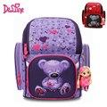 Детский ортопедический водостойкий рюкзак для девочек начальной школы, детский миловидный рюкзак с мишкой Мочила для начальных классов 1-3