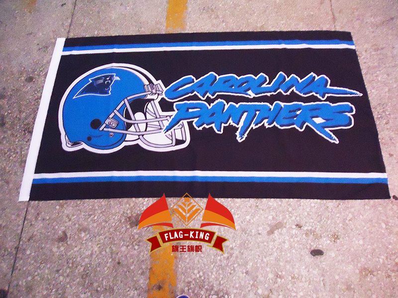 Carolina Panthers Rugby helmet polyester flag,new degsin ,football helmet banner,90*150 CM