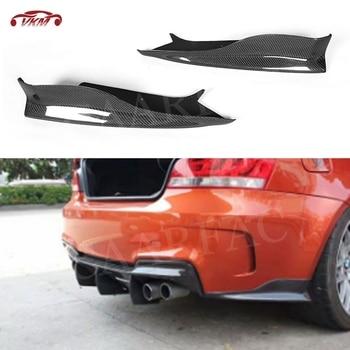 Rear Lip Splitters Trim Canard Aprons Winglets For BMW 1 Series E82 E87 1M Coupe 2-Door 2011 FRP Mudguard Fenders