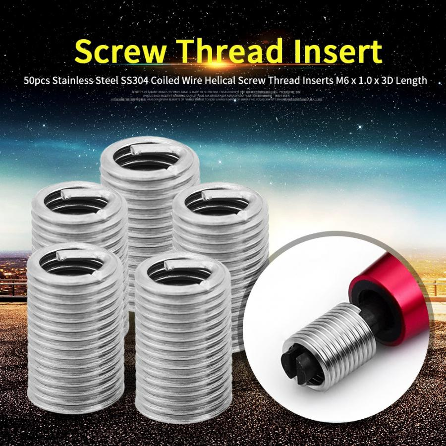 Stainless Steel 304 Thread Repair Insert for Screw Parts Wear Resistance Easy to Maintenance Coiled Wire Insert