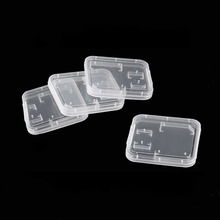 J-boxing SD SDHC Memory Card Case Plastic Storage Box Flash Memory SD Card Box Cover Transparent Standard 10PCS/Set 10pcs lot pmc pm25lv010 4 mbit uniform sector serial flash memory
