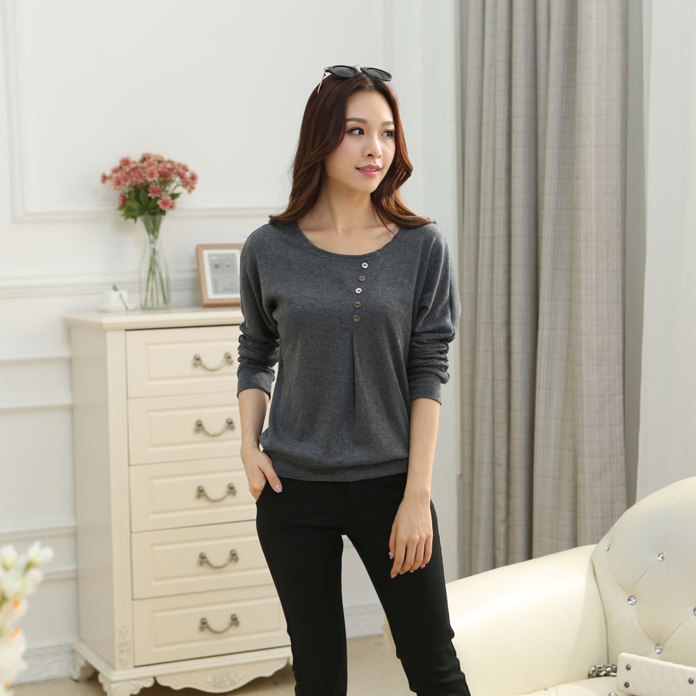 HTB1H1UQJpXXXXbHXXXXq6xXFXXXa - Tee fashion O-neck tshirt women casual loose bat sleeve cotton T-shirt
