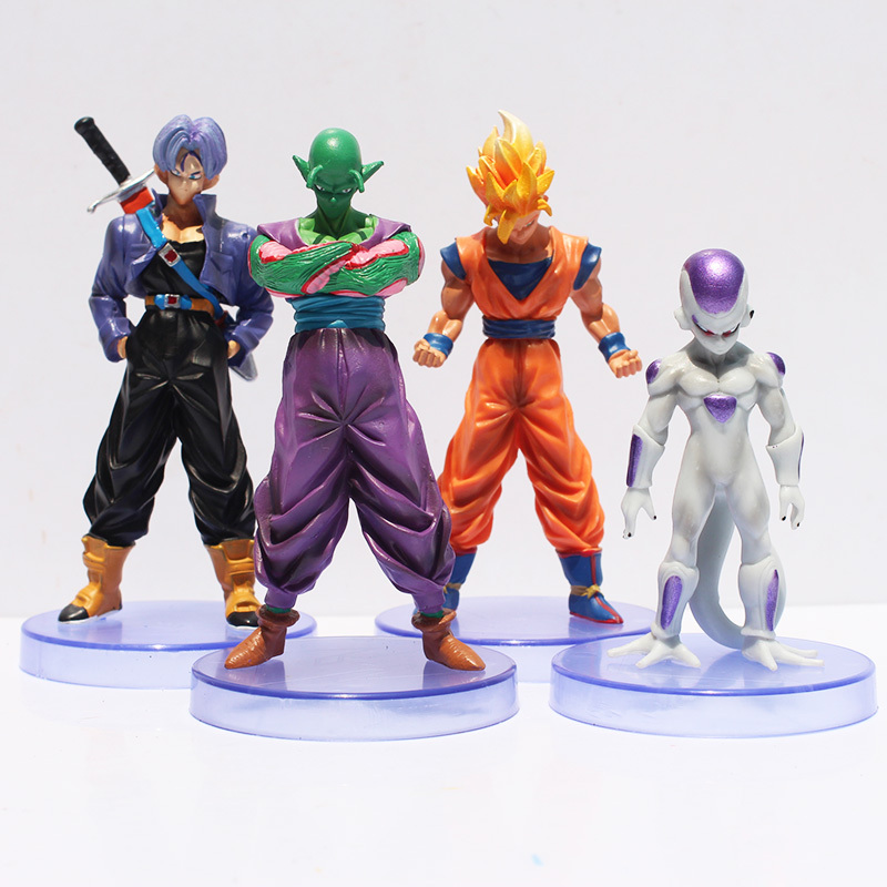 4pcs/lot Son Goku Flisa Piccolo Dragon Ball ZAction Figures Toy PVC Model Collective Doll Carton Anime Figure