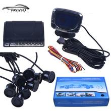 Car Parking Sensors 8 Weatherproof Rear Front View Reverse Backup Radar Kit System LCD Display Monitor