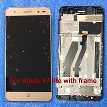 Новый Для ZTE Blade V7 Lite ЖК Ассамблея Дисплей + Сенсорный Экран Замена золото Для ZTE V7 Lite Телефон Стекла датчик объектив с рамкой