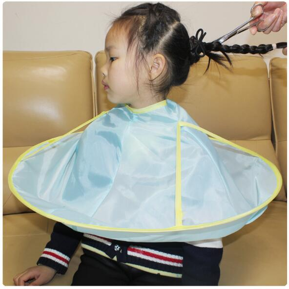 Household Cleaning 1pc Waterproof Kids Haircut Cape Apron Umbrella Children Hair Cutting Catcher Apron Cape Hairdresser Barber Home Tool
