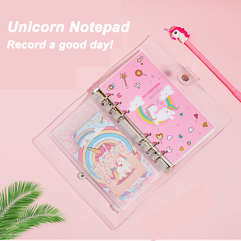 Unicorn Planner Book Suit A6 Spiral Notebook Hand-book Office DIY Unicorn Photo Book Scrapbook For Photo Family Gift For Girls