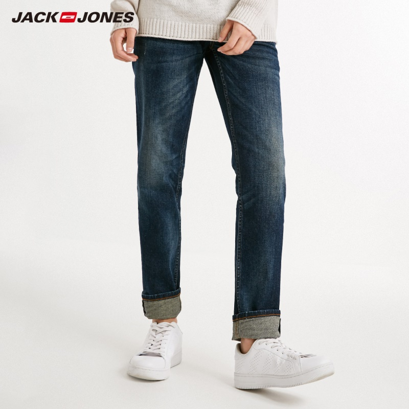 JackJones Men's Cotton Casual   Jeans   Men's Slim Elastic   Jeans   Fashion Business Classic Style Skinny   Jeans   J|218332606