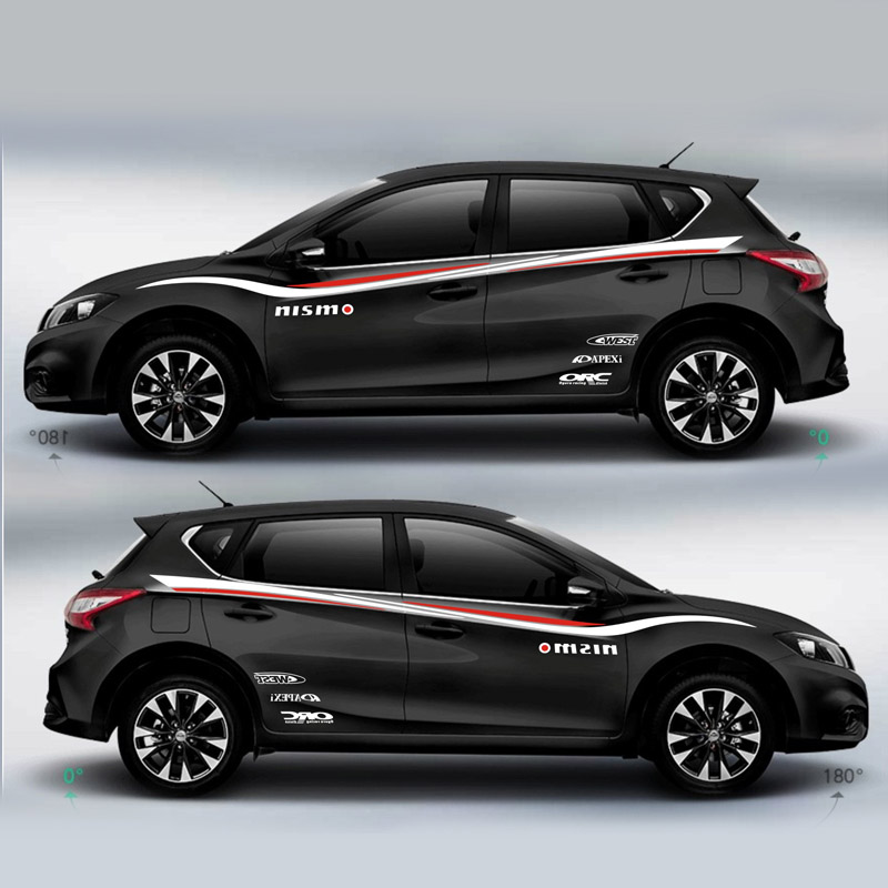 Купить с кэшбэком TAIYAO car styling sport car sticker For Nissan Tiida  Mark Levinson car accessories and decals auto sticker