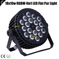Economic 18x10w RGBW 4in1 LED Slim Flat Par Can Flood Light Par 10w Each LED 18 Eyes Party Club Flat Par Lighting