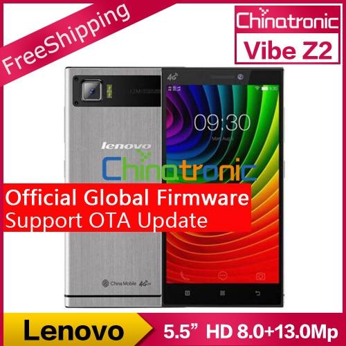 "In Stock New Original Lenovo Vibe Z2 4G FDD LTE Android 5.0 Mobile Phone Snapdragon Quad-core Dual SIM 5.5""HD 2G RAM 32G ROM 13M"