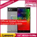 "Original nova lenovo vibe z2 4g fdd lte móvel android 5.0 telefone Snapdragon Quad-core Dual SIM 5.5 ""HD 2G RAM 32G ROM 13MP NFC"