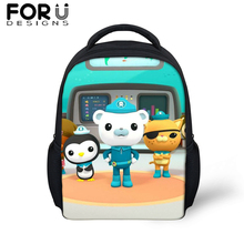 FORUDESIGS Cartoon The Octonauts Small School Bag For Baby Boy Girls Cute Anime Backpack Children Kid Kindergarten Schoolbag