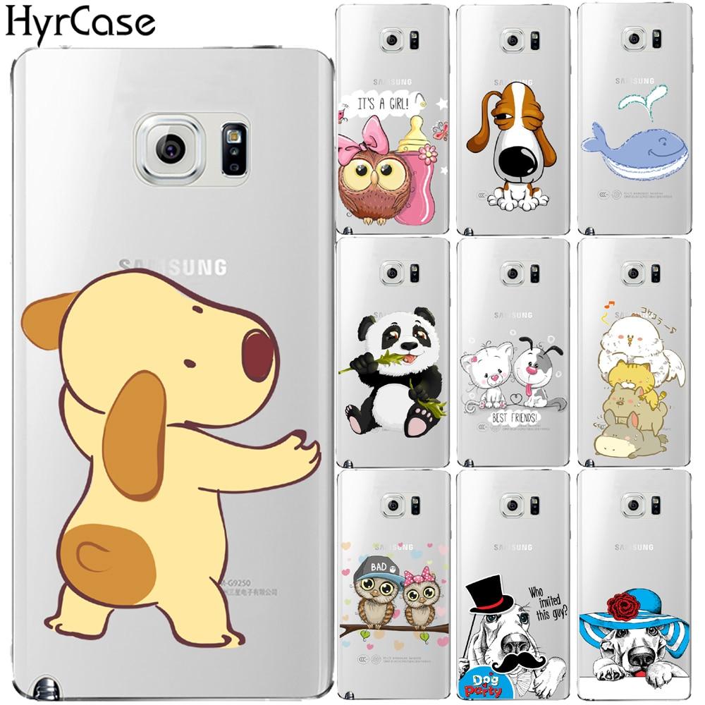 Funny Cartoon Dog Owl Panda Print Hard Case For Coque Samsung Galaxy J5 J7 2015 2016 J5 J7 Prime Note 4 5 8 Phone Cover