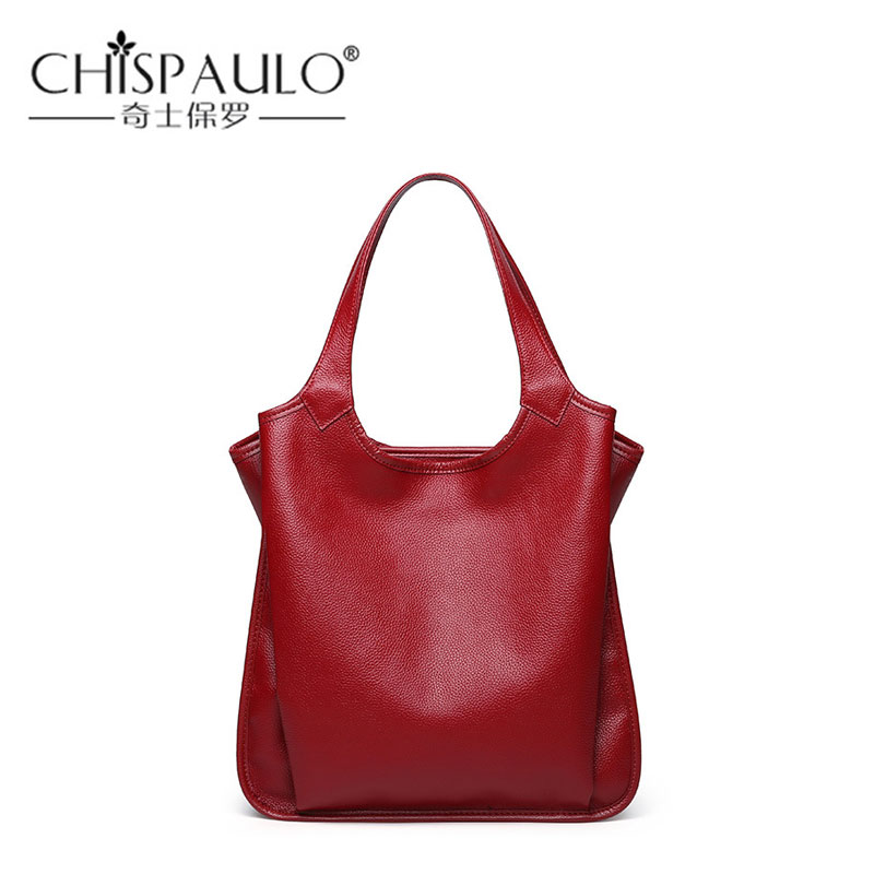 2018 Autumn And Winter New Genuine Leather Women Handbag Real Cow Leather Tote Bag Fashion Design Female Bag Shoulder Bag fashionable women s tote bag with cover and pu leather design