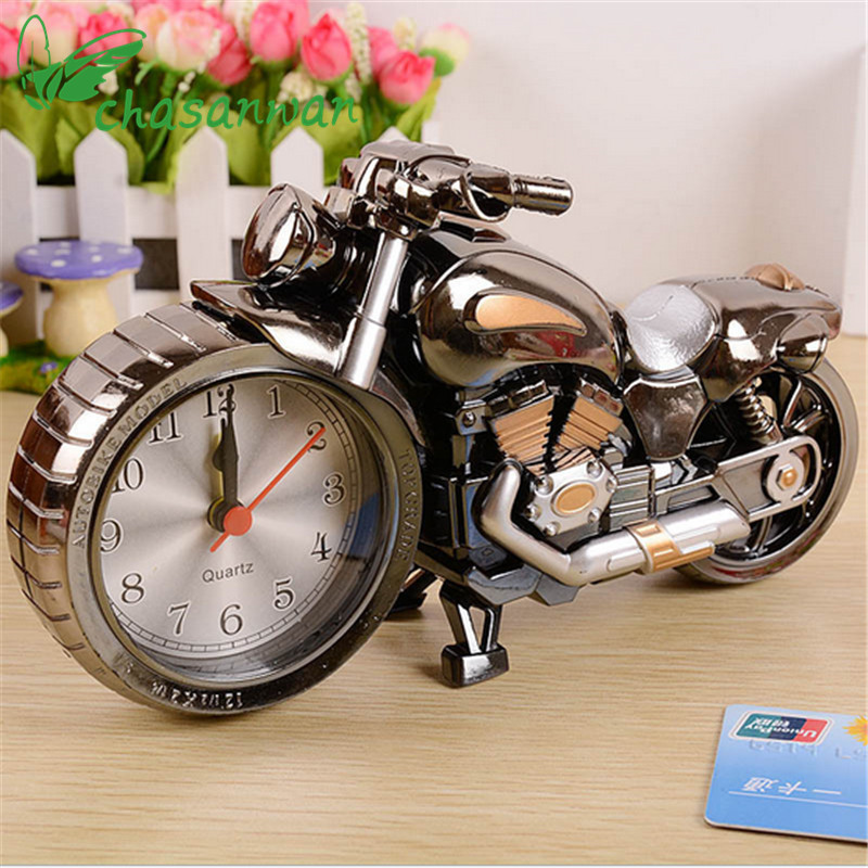 1pc Fashion Creative Motorcycle Alarm Clock Home Decoration Clock Desktop Clock Saat Party Decoration Wedding Gifts for Guests.j