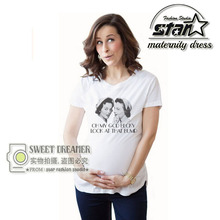 Fashion Funny Print Pregnant Shirt Maternity T Shirts Shorts Cotton Casual Pregnancy Clothes For Pregnant Women Clothing