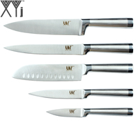 XYj Brand Stainless Steel Kitchen Knives 8 8 7 5 3.5 Cooking Knife Ergonomic Grip Design Stainless Steel Knife 5 Piece Set