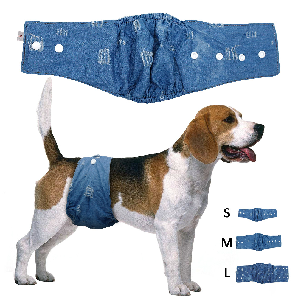 Dog Jeans Sanitary Physiological Pants Pet Underwear Diapers Female Puupy Shorts For Small Medium Girl Dogs S M L
