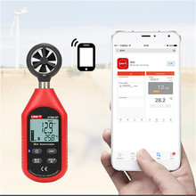 UNI-T UT363BT Wind Speed Meter Digital Bluetooth Pocket Size Anemometer Measurement Thermometer Mini Wind Meter Anemometer hyelec ms6252a wind speed test meter multi function digital anemometer tachometer air volume thermometer humidity