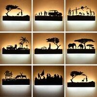 New Black Acrylic Creative Modern Led Wall Light For Living Room Beside Room Bedroom Lamps LED Sconce Bathroom Wall Lamp