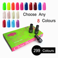 Hot Sale 299 Colors 5ml CB SONP Any 8 Colors UV Led Gel Nail Lamps Soak Off Gel Polish Nail Gel Lacquer UV
