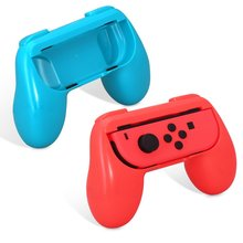 SQDeal 2 Pack for Nintend Switch Joy-Con Grips Joy Con Handle with 4 Analog Stick Caps – Blue / Red NS Gamepad Grip Controller